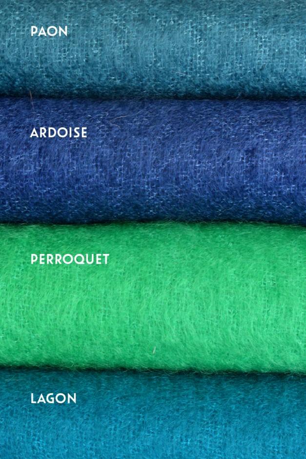 Paon / Ardoise / Perroquet / Lagon